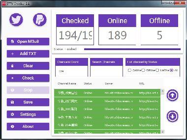 m3u8直播源检测工具IPTV Checker